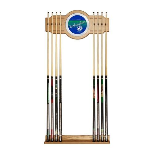Minnesota Timberwolves Hardwood Classics Billiard Cue Rack with Mirror