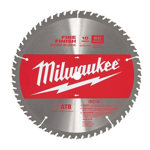 Milwaukee 10 in. x 60-Tooth Fine Finish Saw Blade
