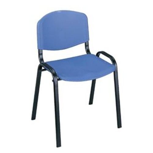 Safco Stackable Chair in Blue Finish - Set of 4