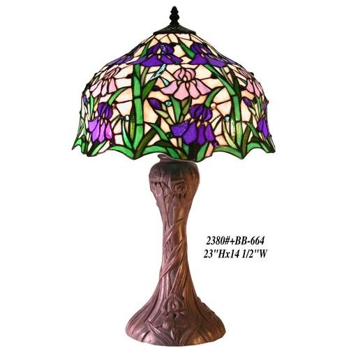Warehouse of Tiffany Tiffany-style Iris Table Lamp