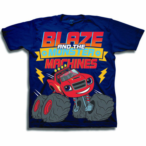 Nickelodeon Navy Blaze and the Monster Machines Printed Top - Toddler
