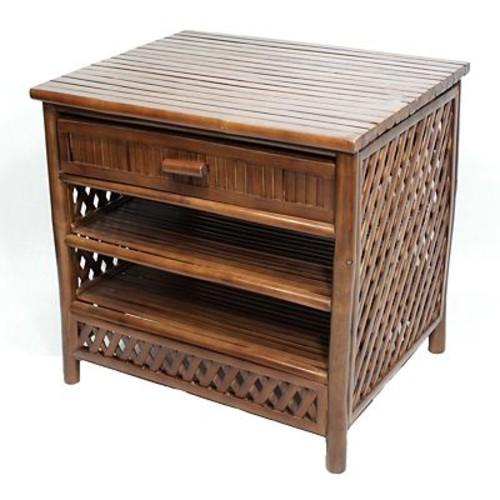 Heather Ann 1 Drawer Cabinet; Brown