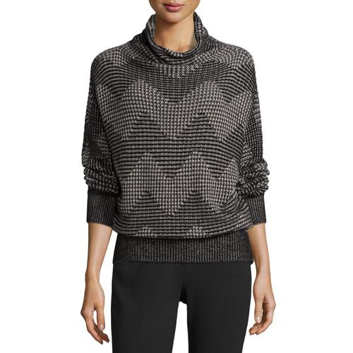 MAXMARA Zigzag-Knit Cowl-Neck Sweater, Beige