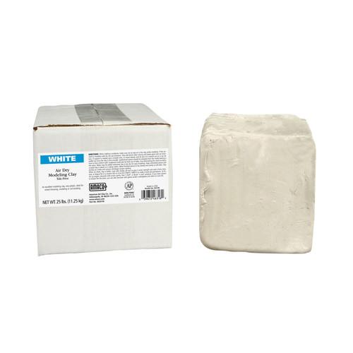 Amaco Brent Air Dry Clay, White, 25 Lb.