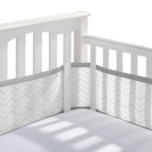 BreathableBaby Chevron Mesh Crib Liner