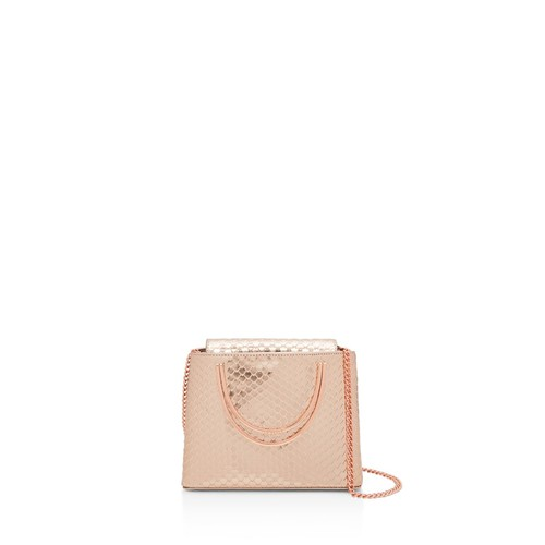 TED BAKER Caspare Metallic Micro Embossed Leather Satchel