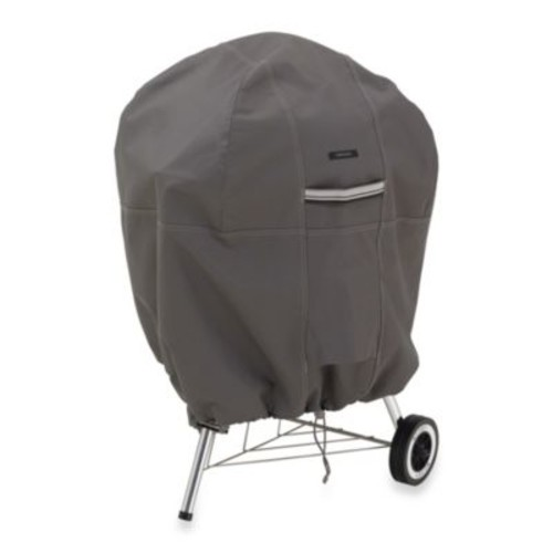 Classic Accessories Ravenna Kettle Grill Cover in Dark Taupe
