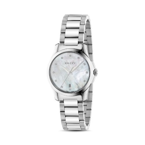 GUCCI G-Timeless Stainless Steel Watch With Diamonds, 27Mm