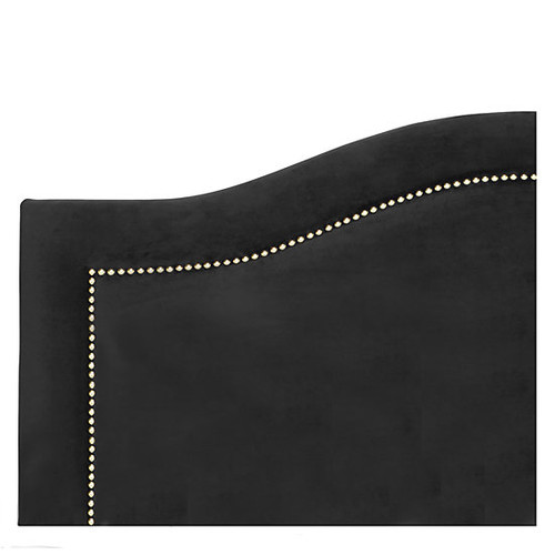 Hudson Headboard [Queen With Gold Nail Heads]