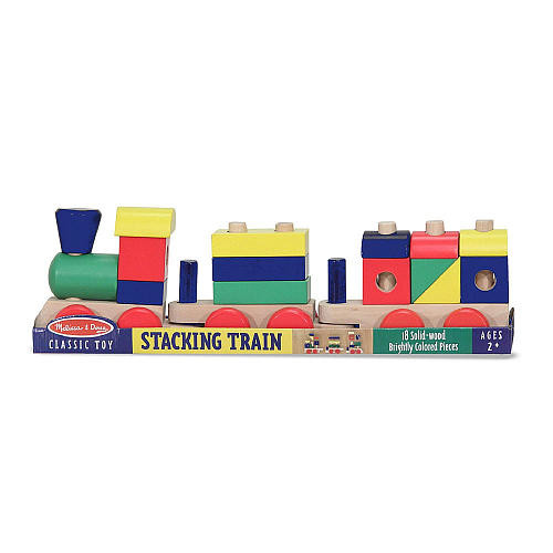 Melissa & Doug Personalized Stacking Train Play Set