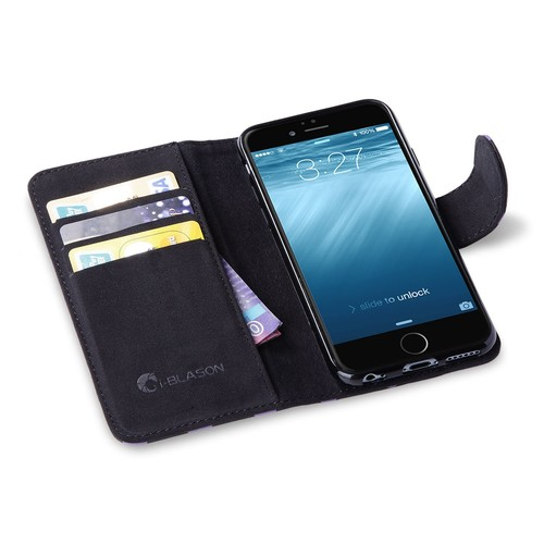 iPhone 6S Case, i-Blason Apple iPhone 6 Case 4.7 Inch Slim Leather [Wallet Case] Cover with Stand Feature and Credit Card [ID Holders]