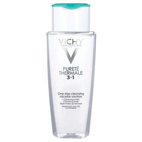 Vichy Puret Thermale Cleansing Micellar Water, 3-in-1 One Step Face Cleanser and Makeup Remover - 6.7oz
