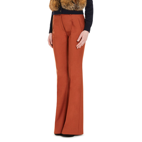 PRADA Flared Wide-Leg Pants, Orange