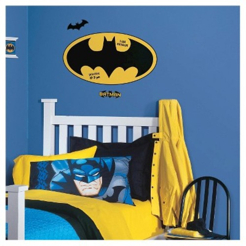 RoomMates Batman Logo Dry Erase Peel and Stick Giant Wall Decals