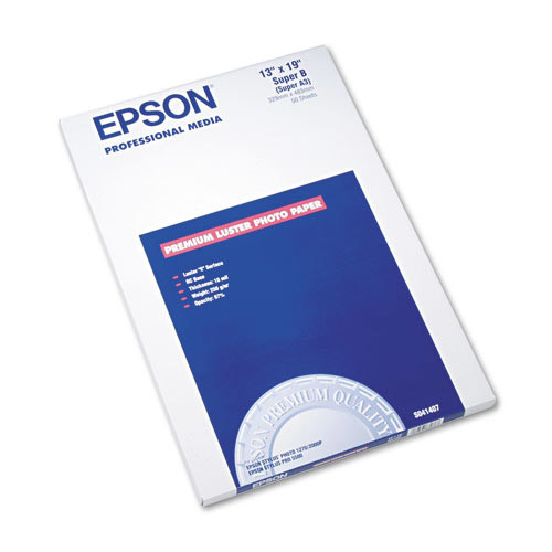 Epson Premium Luster Photo Paper, 13 x 19, 50 Sheets/Pack (EPSS041407)