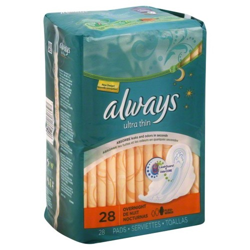Always Pads, Ultra Thin, Overnight, 28 pads