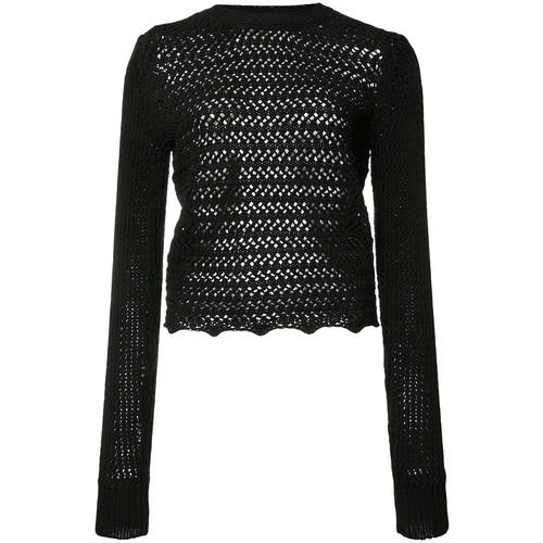 3.1 PHILLIP LIM Long Sleeve Crochet Top