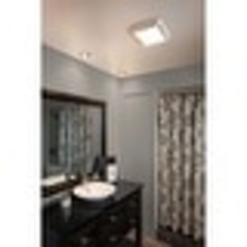 NuTone 763 50 CFM 2.5 Sone Ceiling Mounted HVI Certified Bath Fan with Incandescent Light - White