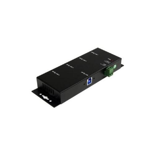 StarTech.com Mountable USB 3.0 hub - Industrial - Rugged - Black Metal - Bus Powered - USB 3 Hub - USB Extender - Powered USB 3.0 Hub