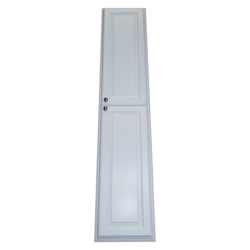 WG Barbados White Wood 72-inch Recessed Enamel Finished Pantry Storage Cabinet