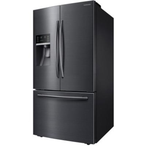 Samsung 28.07 cu. ft. French Door Refrigerator in Black Stainless Steel