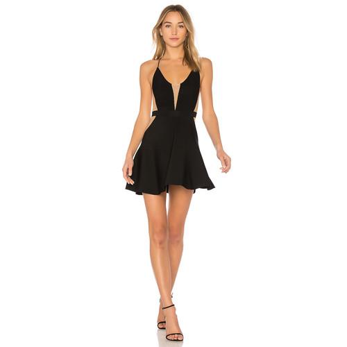 NBD Odette Dress in Black & G