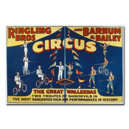 Trademark Fine Art 'Ringling Brothers and Barnam & Bailey Circus' Canvas Art