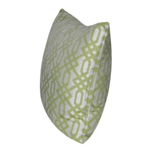 Loom and Mill Lattice Indoor/Outdoor Throw Pillow; Light Green