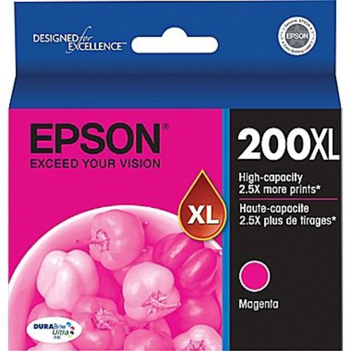 Epson 200XL Magenta Ink Cartridge (T200XL320), High Yield