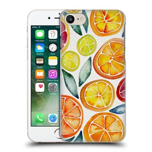 Official Cat Coquillette Fruits & Veggies Citrus Slices Hard Back Case For Apple Iphone 7