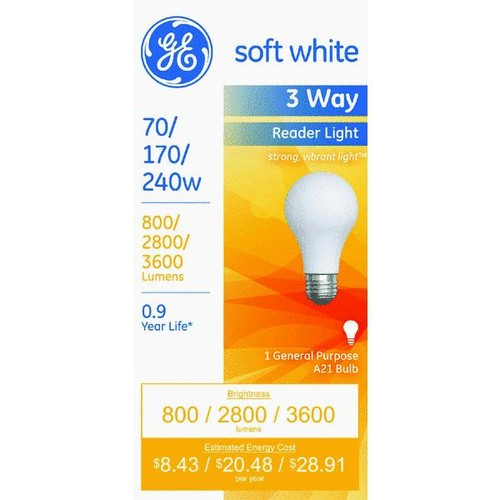 Satco A21 Incandescent 3-Way Light Bulb - S1820