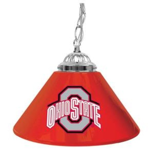 The Ohio State University 14 in. Single Shade Stainless Steel Hanging Lamp