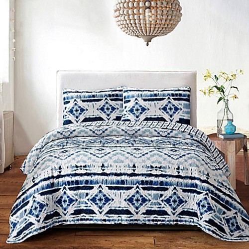 Jessica Twin Quilt Set in Blue