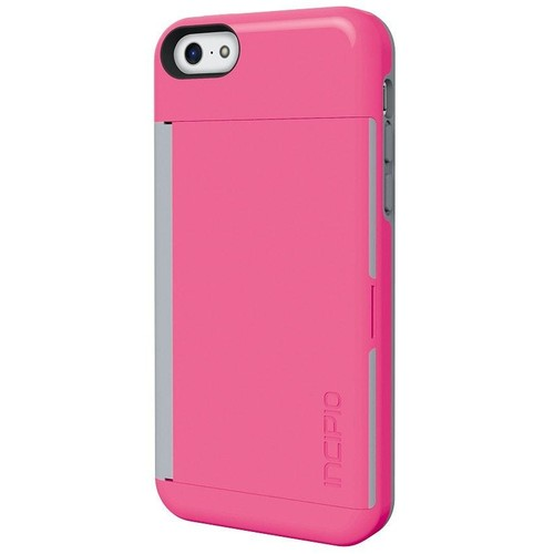 Incipio STOWAWAY Credit Card Case for iPhone 5C (Pink)
