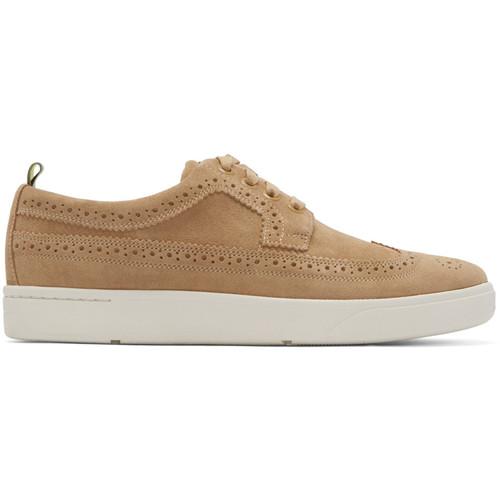 Beige Brogue Harkin Sneakers