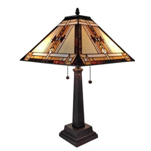 Amora Lighting 22 in. Tiffany Style Mission Design Table Lamp