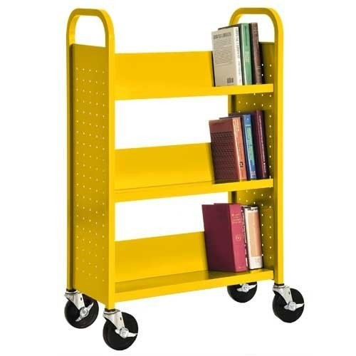 Sandusky Lee SL327-EY Single Sided Sloped Shelf Welded Bookcase, 14