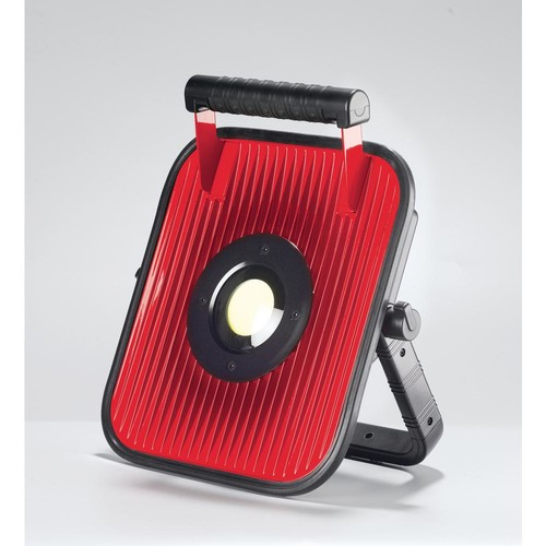 Globe Electric 20-Watt Red and Black Integrated LED Portable Worklight