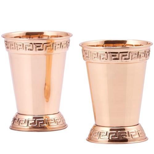 Dutch S/2 Solid Copper Mint Julep 12-oz Cups