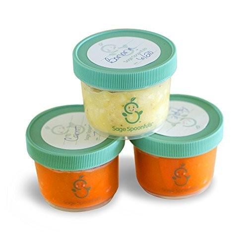 Baby Food Storage Containers - Sage Spoonfuls Mini 4oz Storage Jars (3pk) - BPA Free