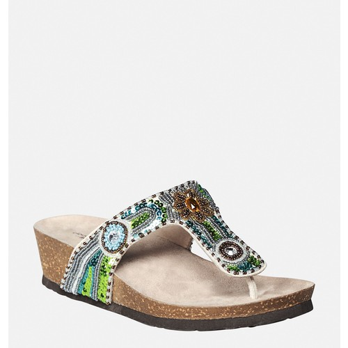 Chloe Beaded Thong Sandal