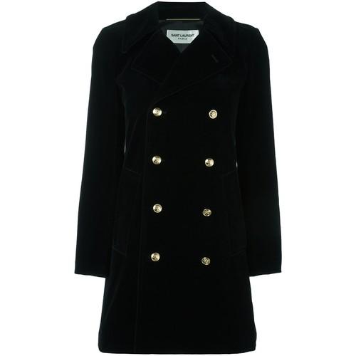 SAINT LAURENT Buttoned Short Coat