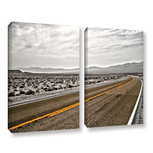 Brushstone Slow Curves 2-pc. Gallery Wrapped Canvas Wall Art