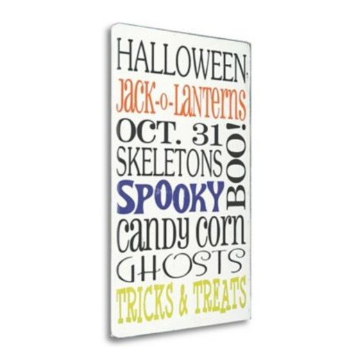 Tangletown Fine Art 'Tricks and Treats' Textual Art on Wrapped Canvas; 33'' H x 21'' W