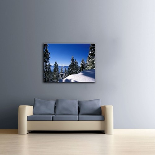 Kathy Yates 'Lake Tahoe in Winter' Canvas Art