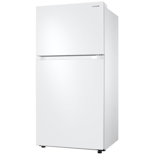 Samsung 21 cu. ft. Capacity Top Freezer Refrigerator with FlexZone - White