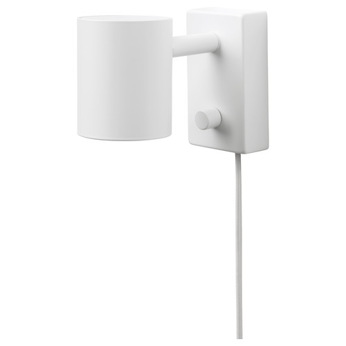 NYMNE Wall/reading lamp with LED bulb, white