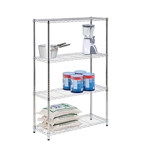 Honey-Can-Do Urban Steel Adjustable Shelving Unit, 4-Tiers, Chrome