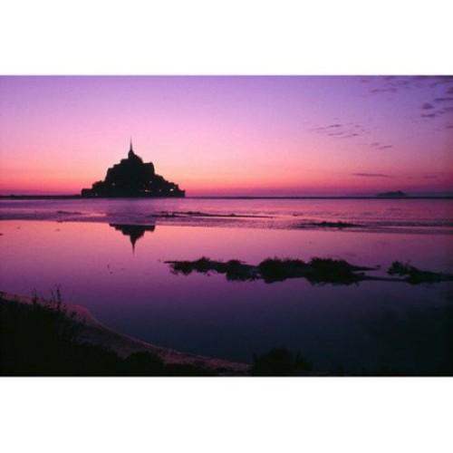 Brewster Home Fashions National Geographic Sunrise Reflection of Castle Wall Mural