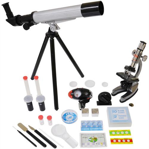 Elenco Electronics Microscope & Telescope Set With Survival Kit